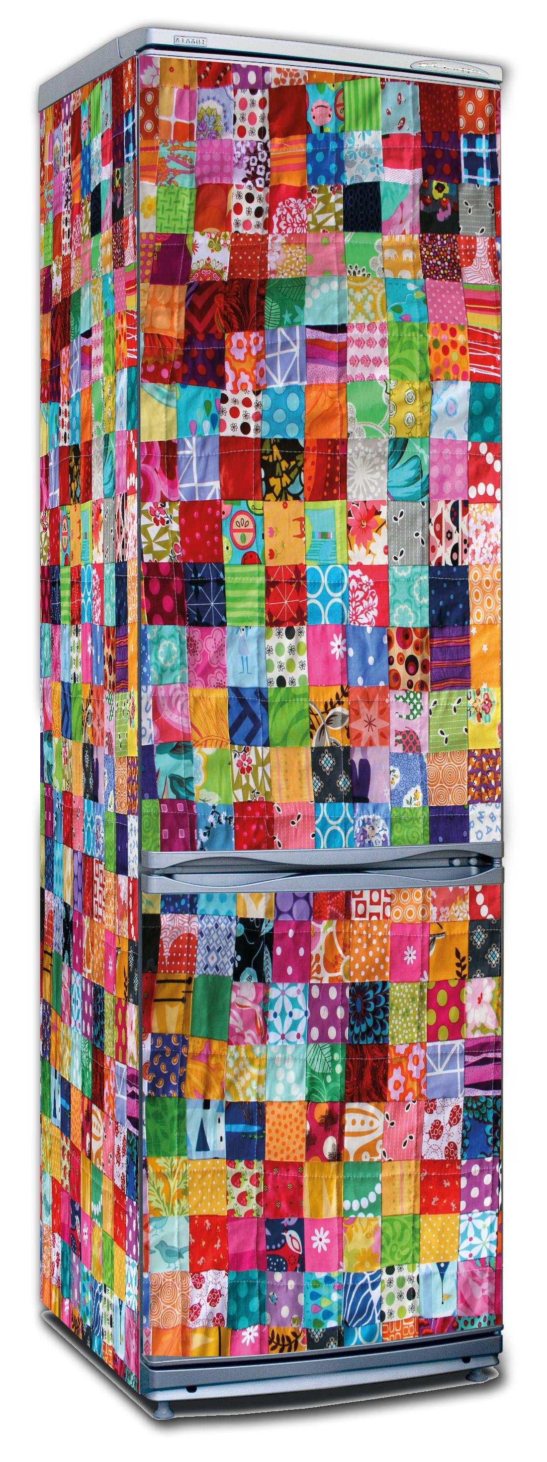 наклейка на холодильник - Лоскутное одеяло