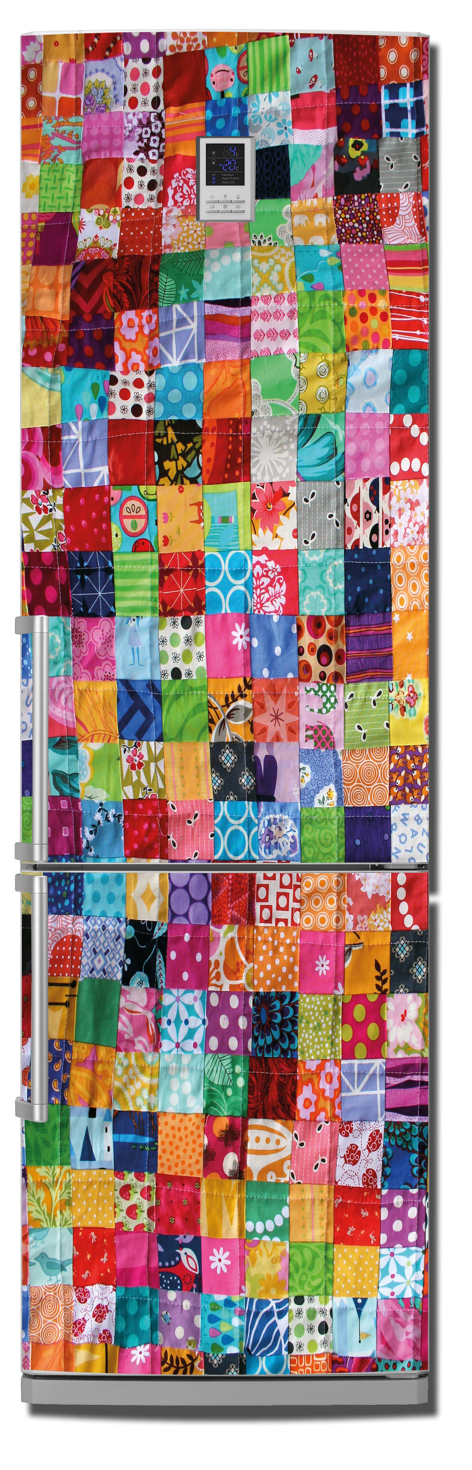 виниловый стикер на холодильник - Лоскутное одеяло