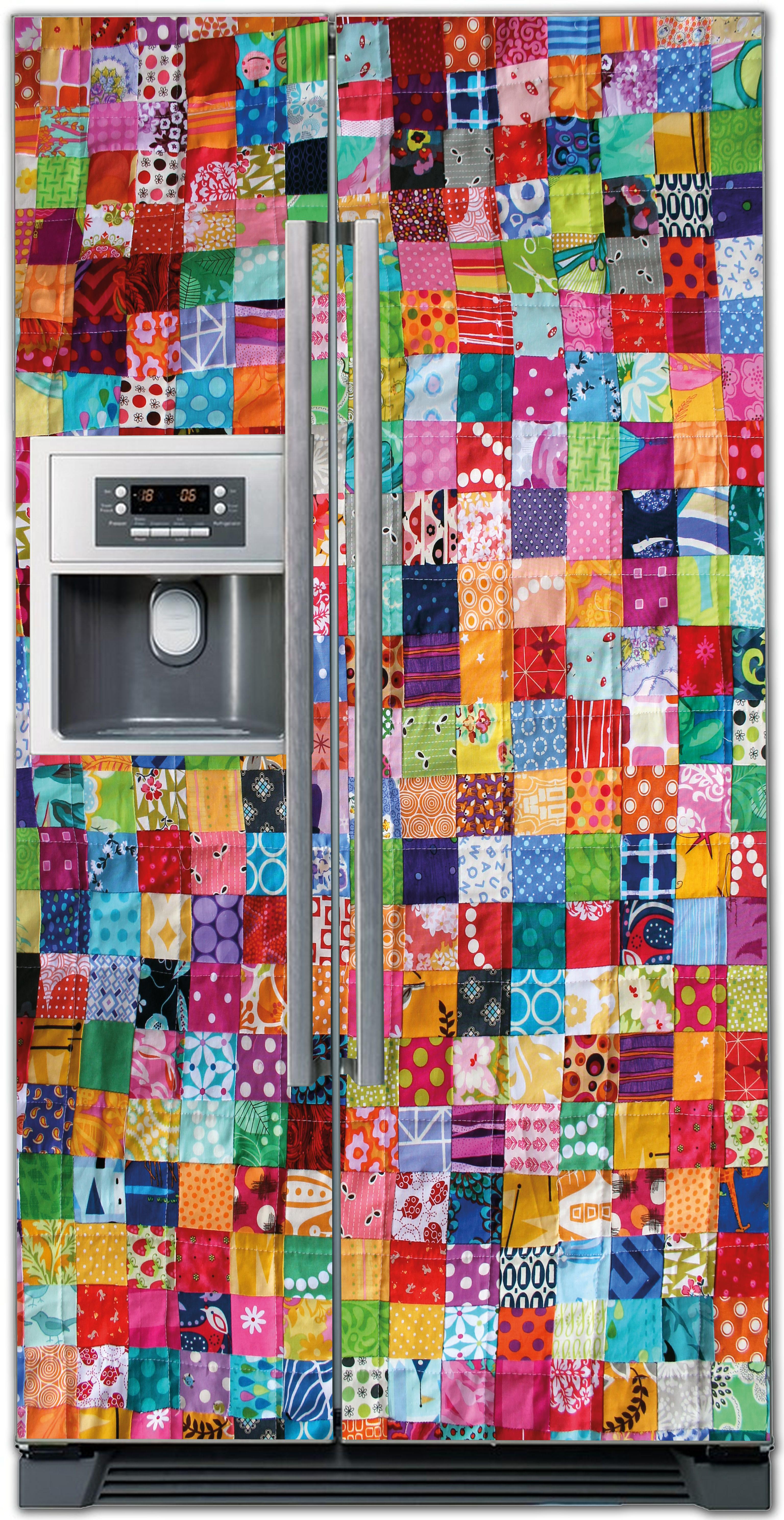 Виниловая наклейка на холодильник - Лоскутное одеяло