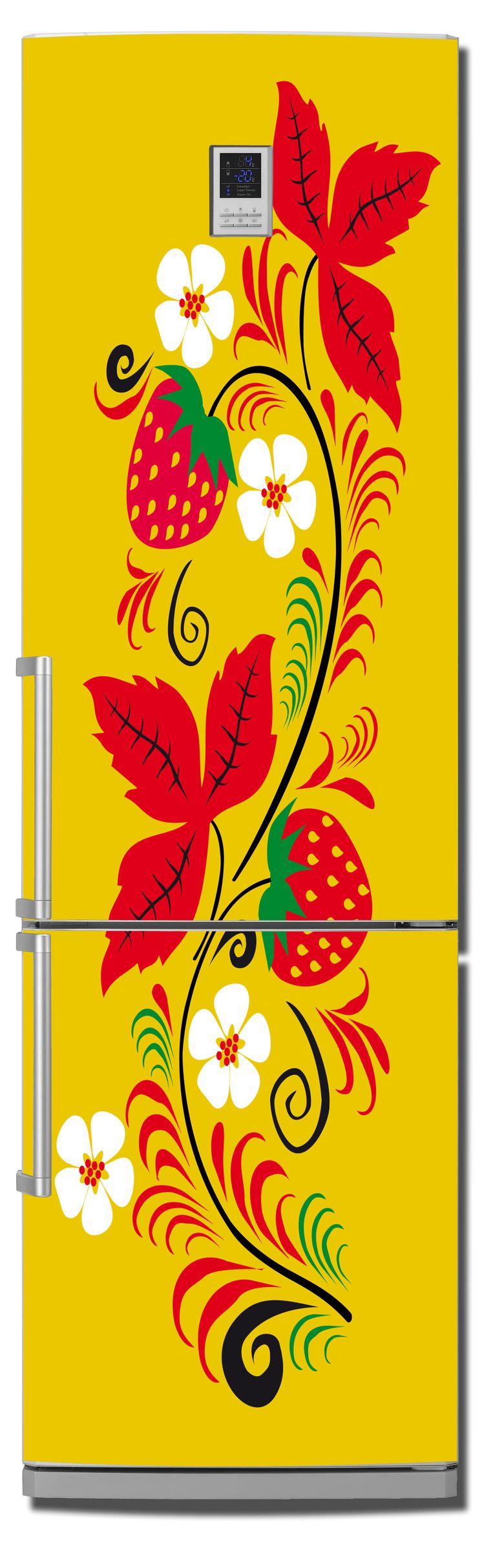 наклейка на холодильник -  Русские узоры