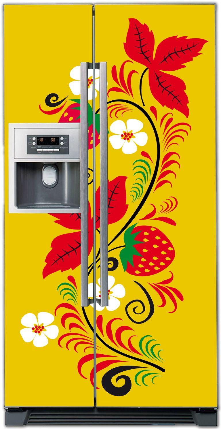 стикер на холодильник -  Русские узоры