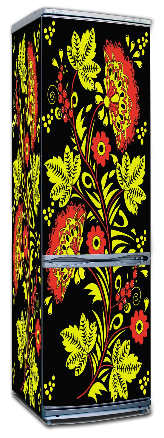 наклейка на холодильник -  Хохлома 1
