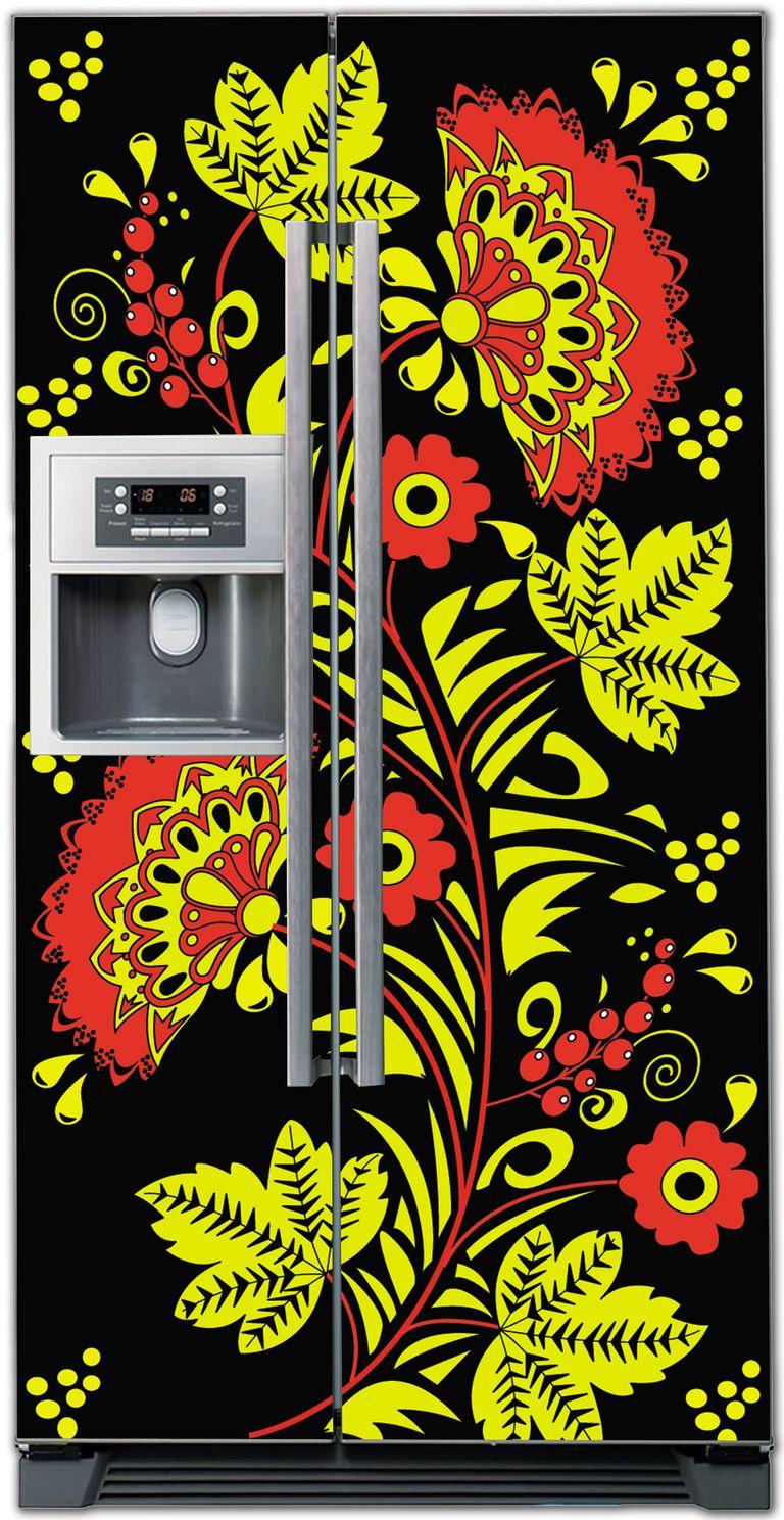 стикер на холодильник -  Хохлома 1