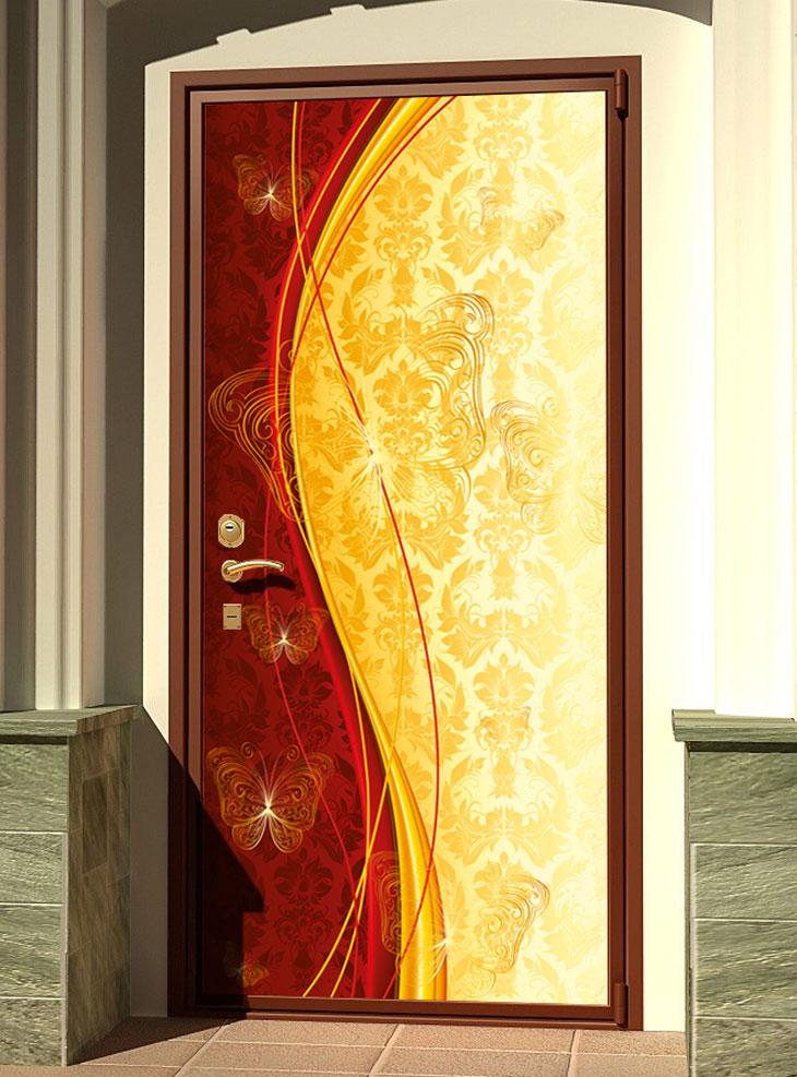 стикер на дверь - Роскошь 4