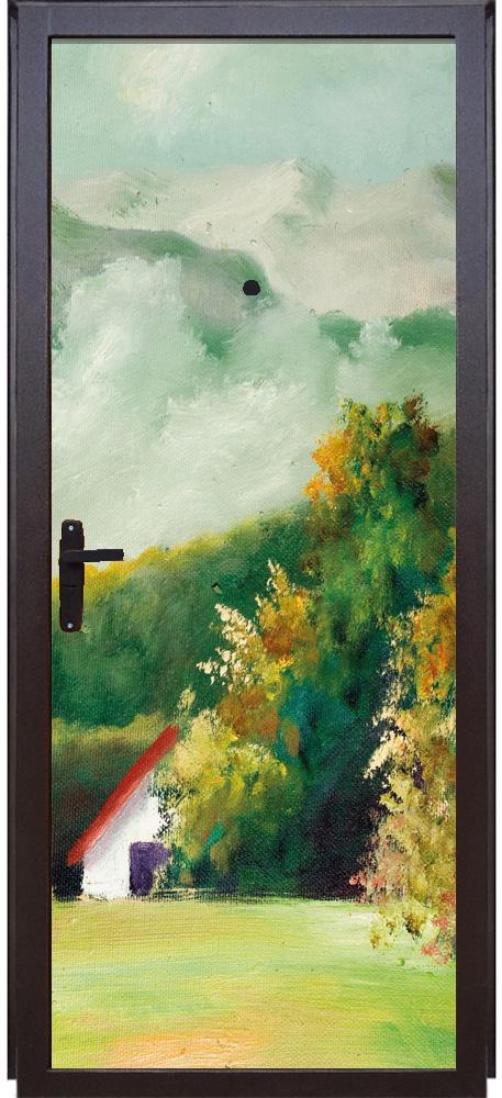 Виниловая наклейка на дверь - Пейзаж 1
