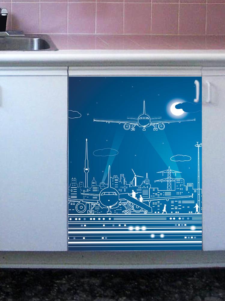 Наклейка на посудомоечную машину - Полнолуние 2