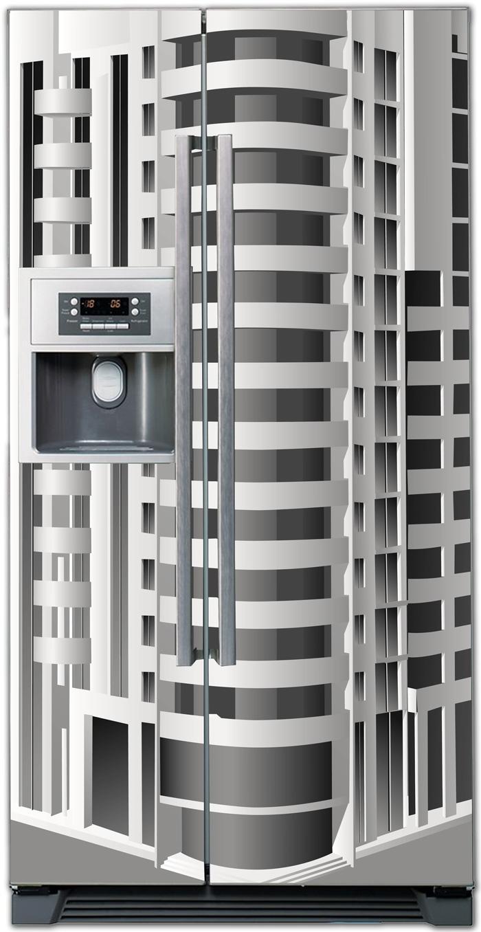 Виниловая наклейка на холодильник - Дом