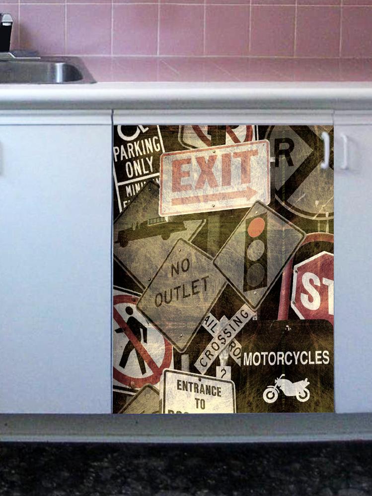 Наклейка на посудомоечную машину  - Знаки