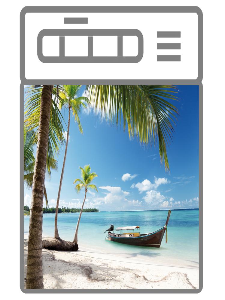 Наклейка на посудомоечную машину -Пляж 4