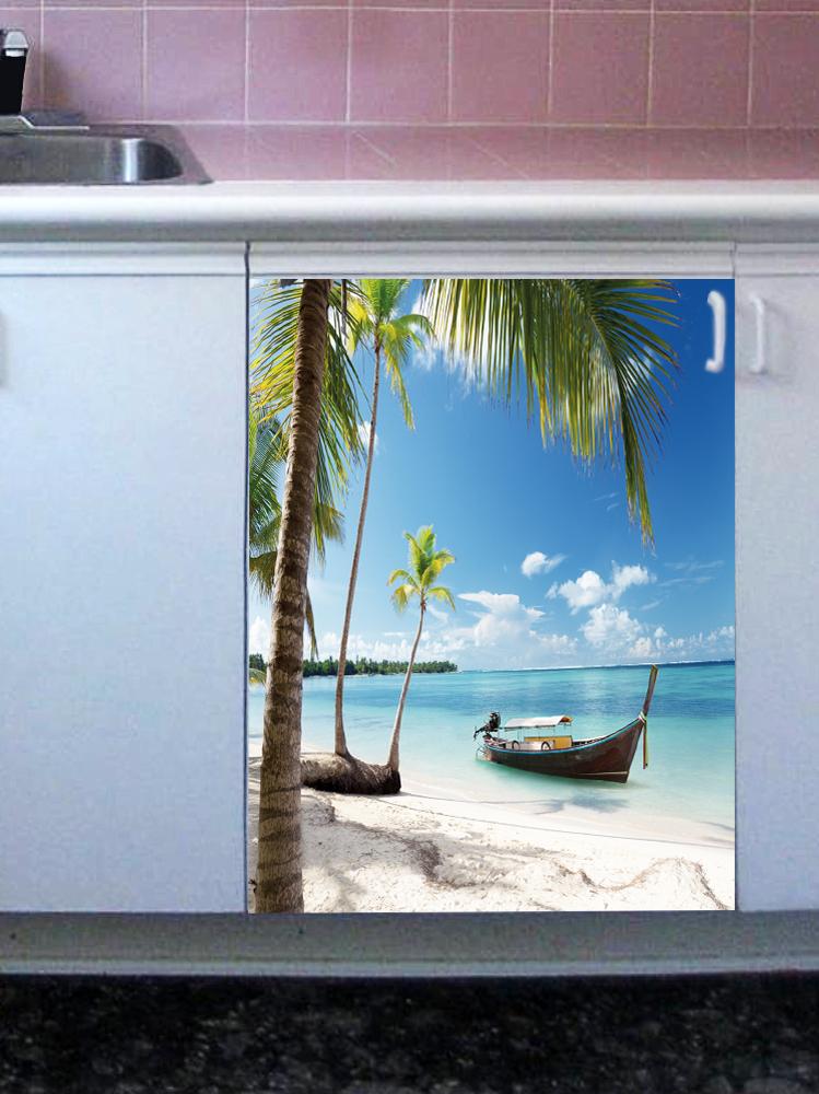 Наклейка на посудомоечную машину - Пляж 4