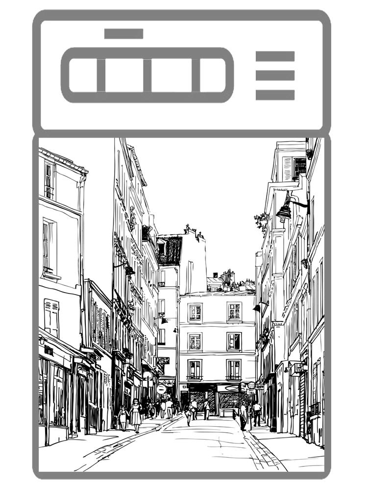 Наклейка на посудомоечную машину - Улицы города 3