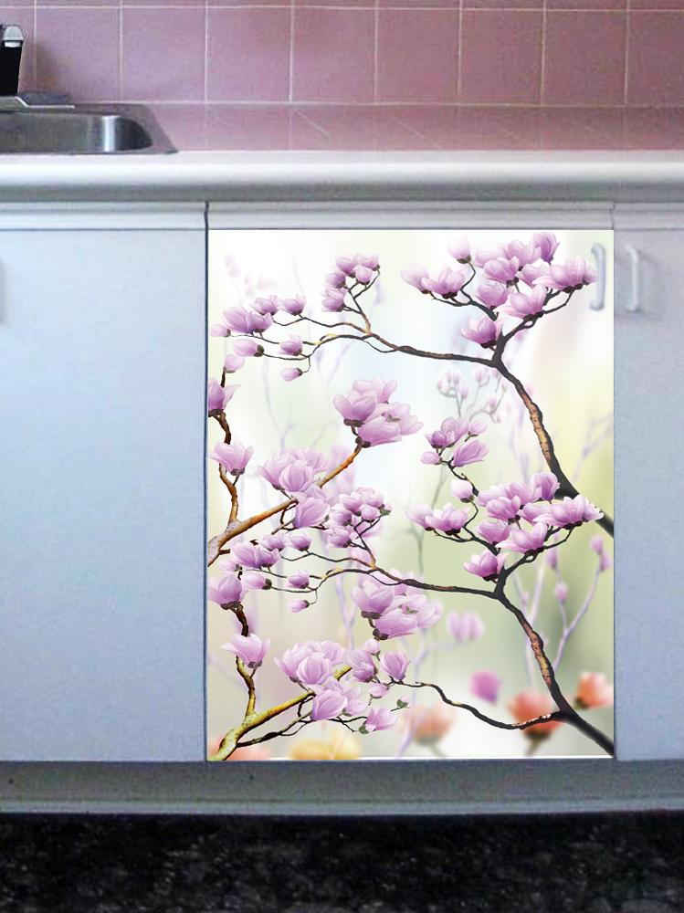 Наклейка на посудомоечную машину -Искусство цветения