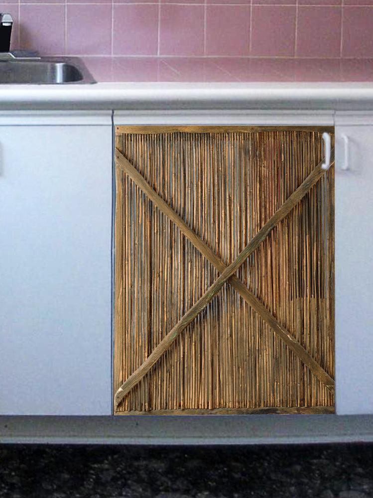 Наклейка на посудомоечную машину - Тростник