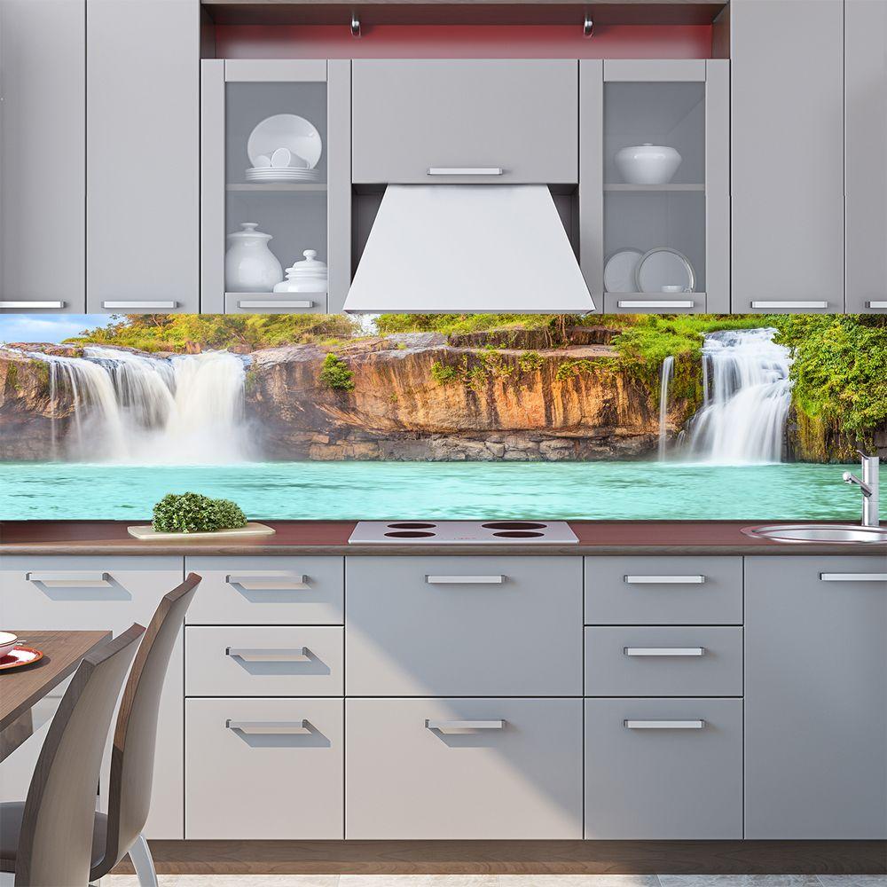 Фартук для кухни. Наклейка - Водопад.