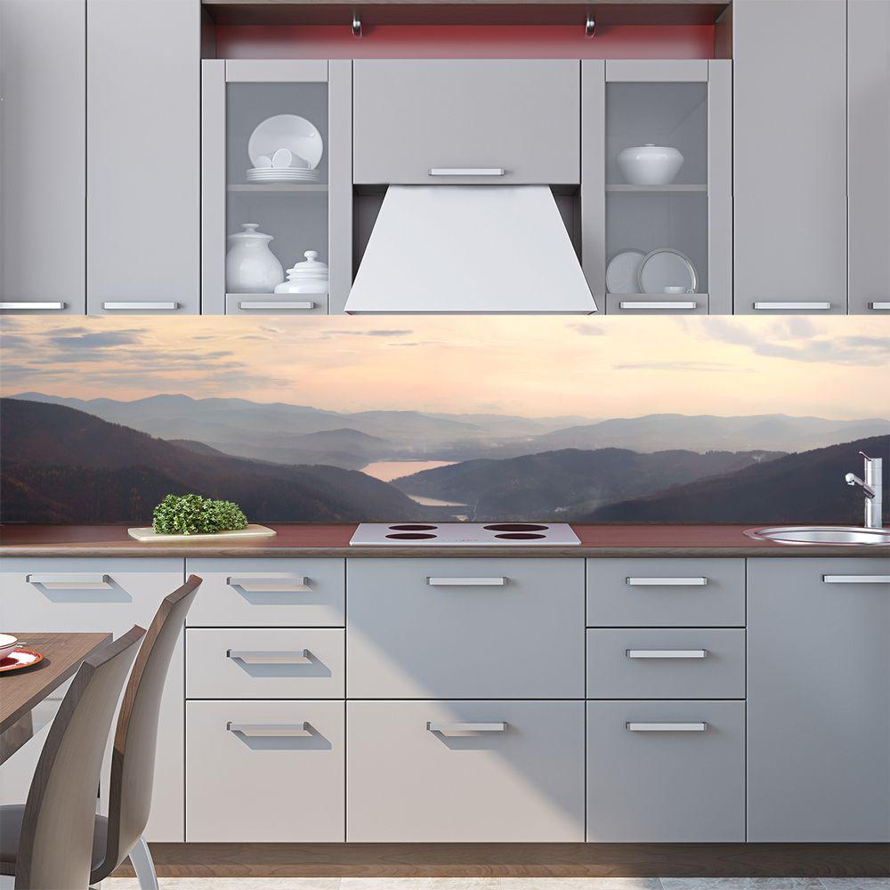 Фартук кухни с фотопечатью - Вдоль гор