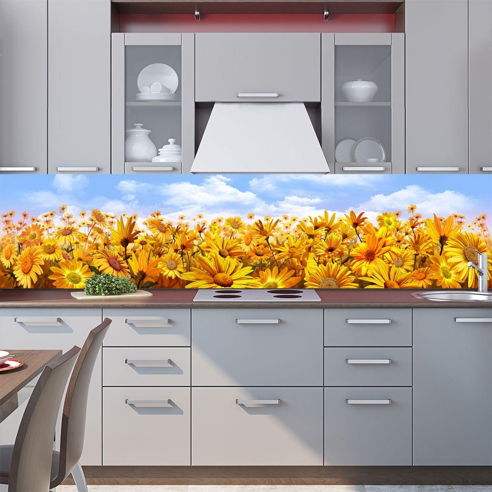 Фартук кухни с фотопечатью - До прилета пчел.