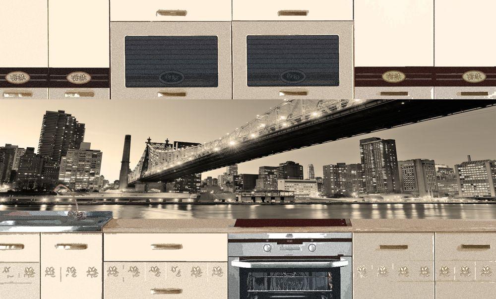 Виниловая наклейка для фартука на кухню - New York 3