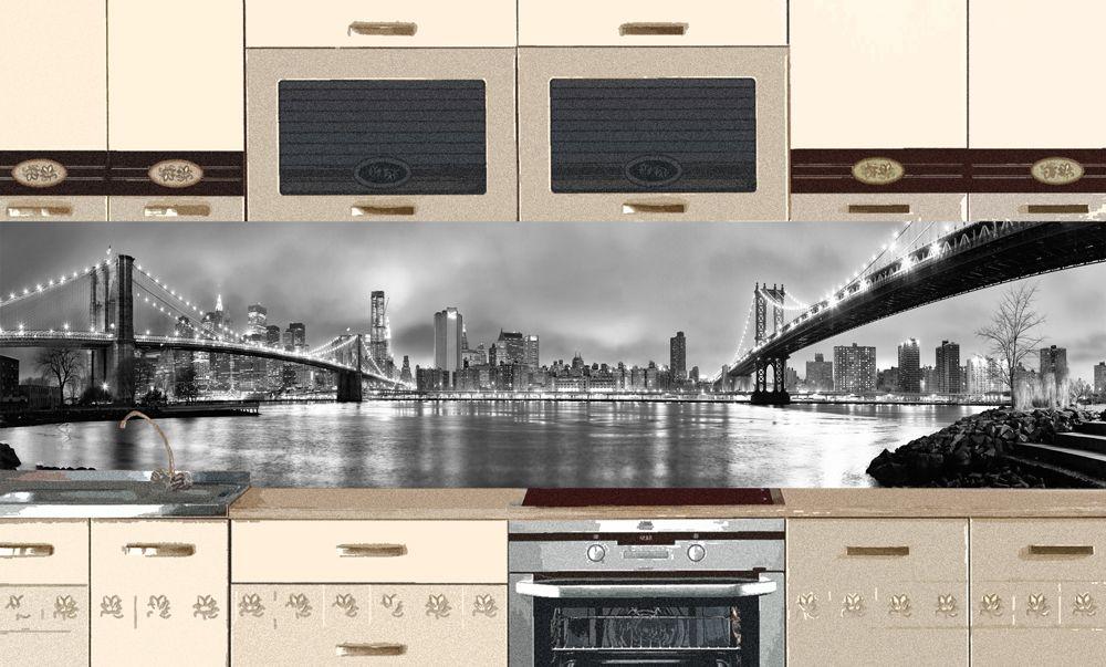Виниловая наклейка для фартука на кухню - New York 1