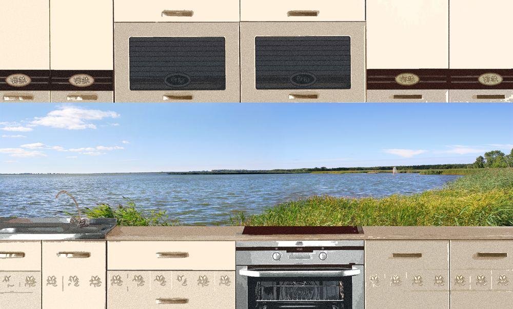 Виниловая наклейка для фартука на кухню - Озеро