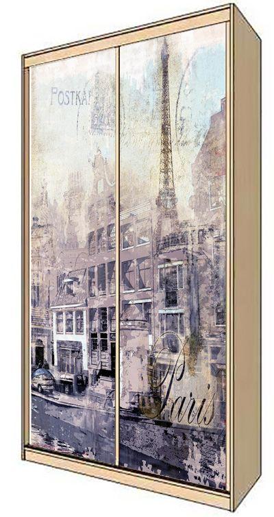 Наклейка на шкаф - Ретро открытка
