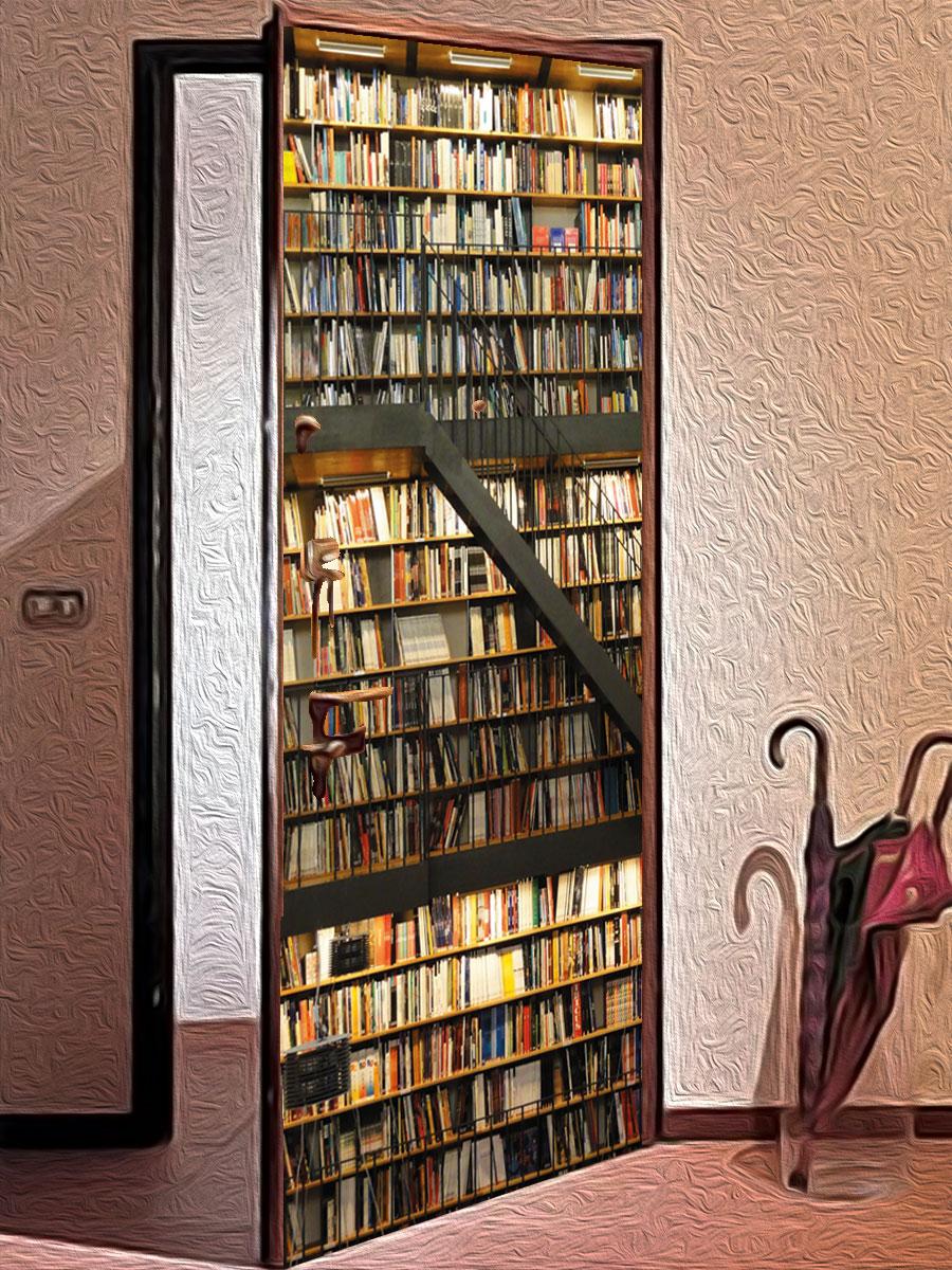 Виниловая наклейка на дверь - Библиотека