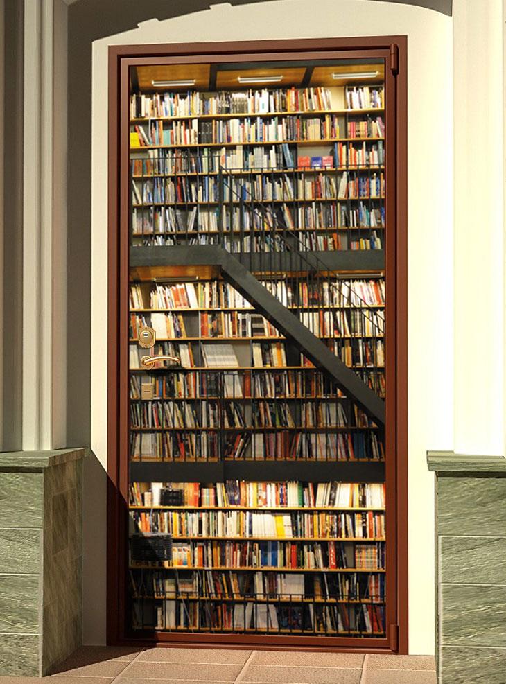 стикер на дверь - Библиотека