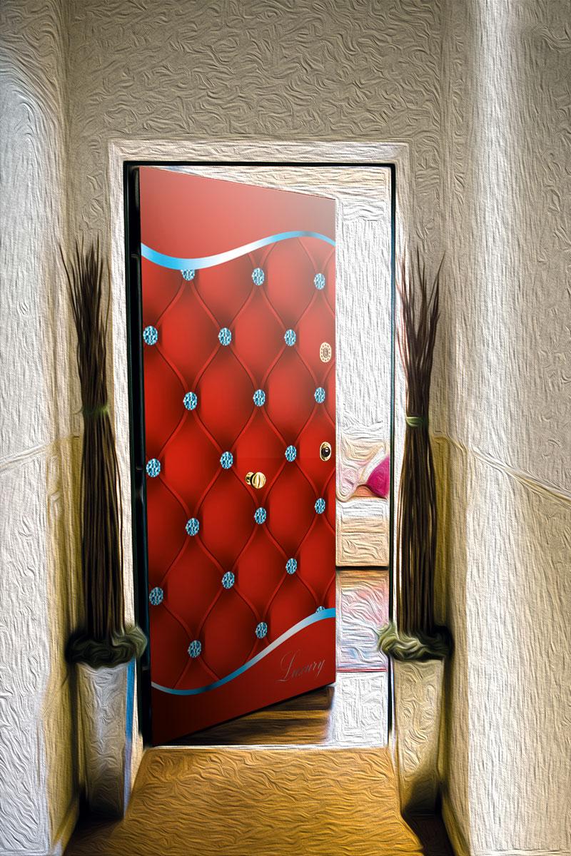 Виниловый стикер на дверь - Роскошь 3
