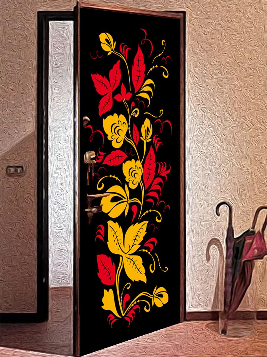 Виниловая наклейка на дверь - Узоры