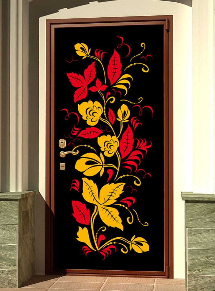 стикер на дверь - Узоры