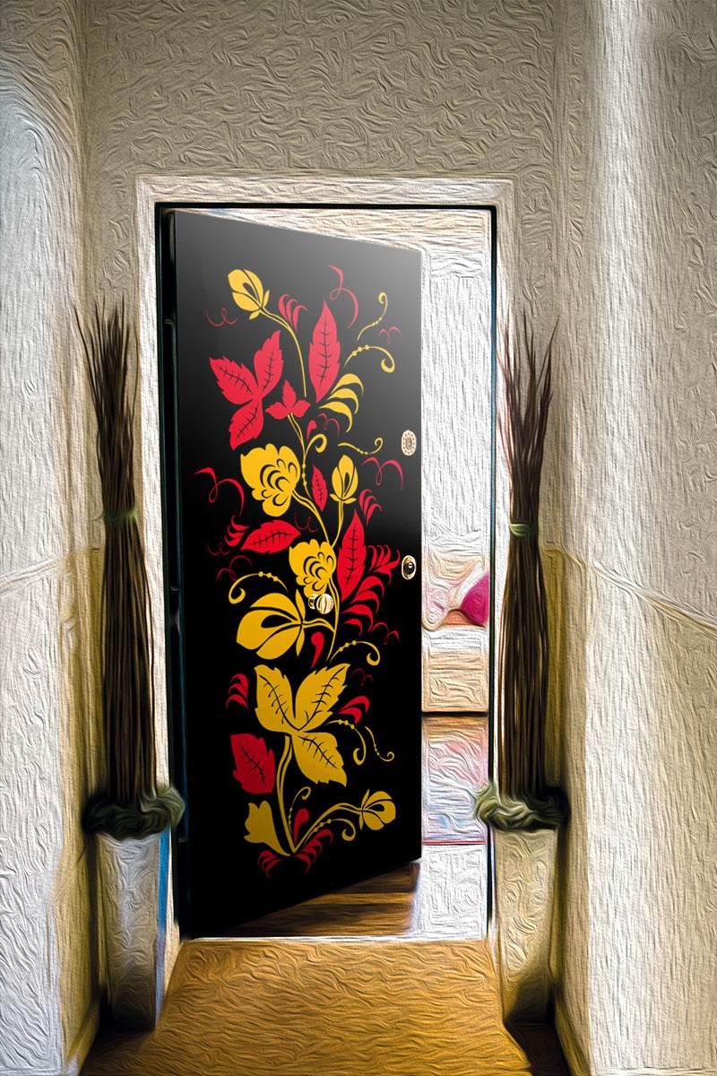 Виниловый стикер на дверь - Узоры