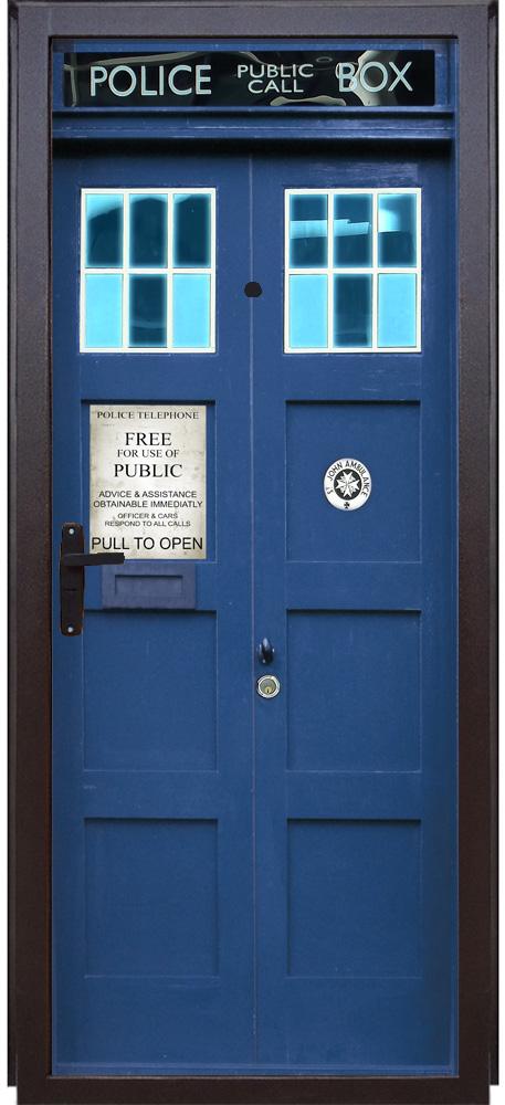 Виниловая наклейка на дверь - Police Box