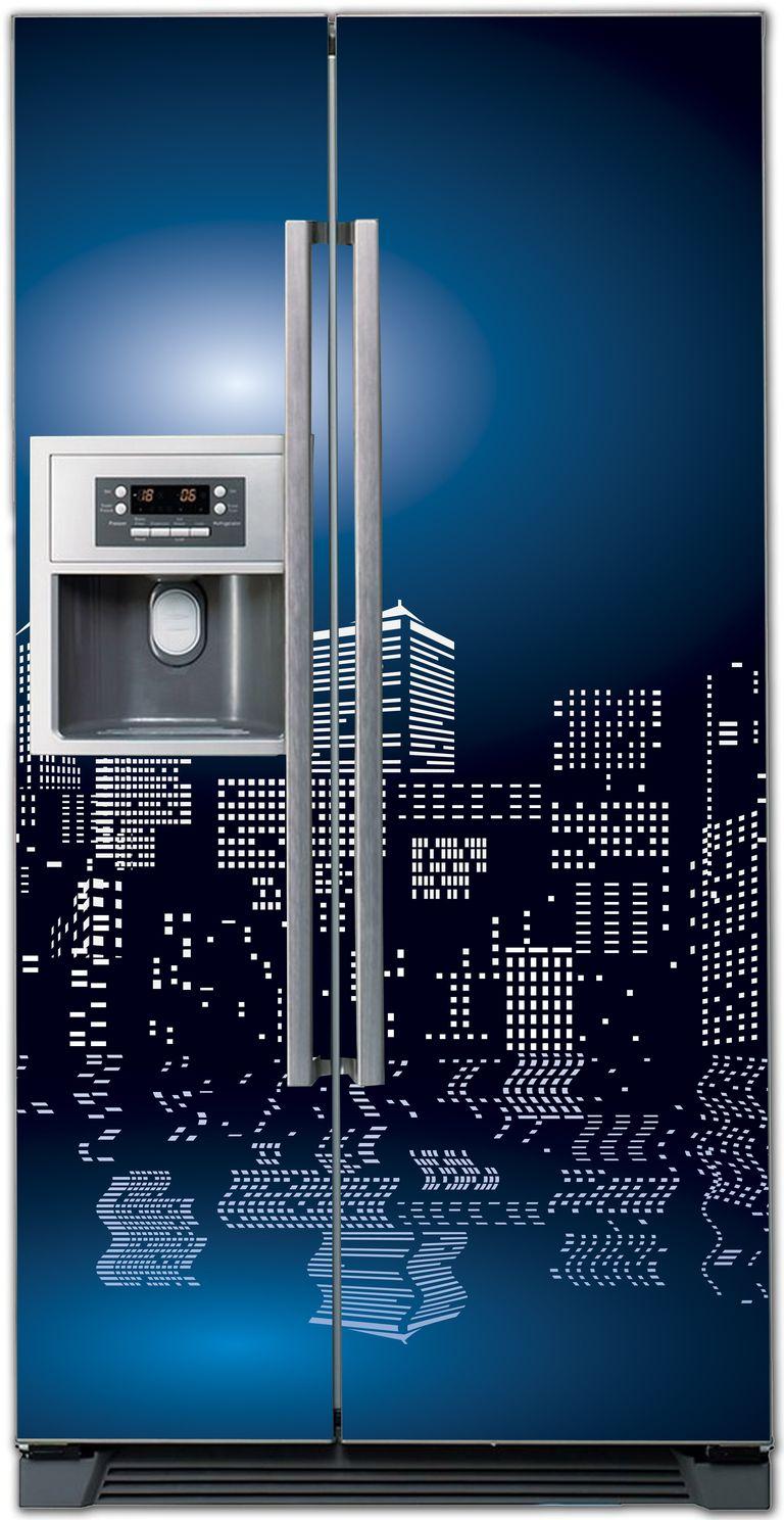 Виниловая наклейка на холодильник -  Полнолуние