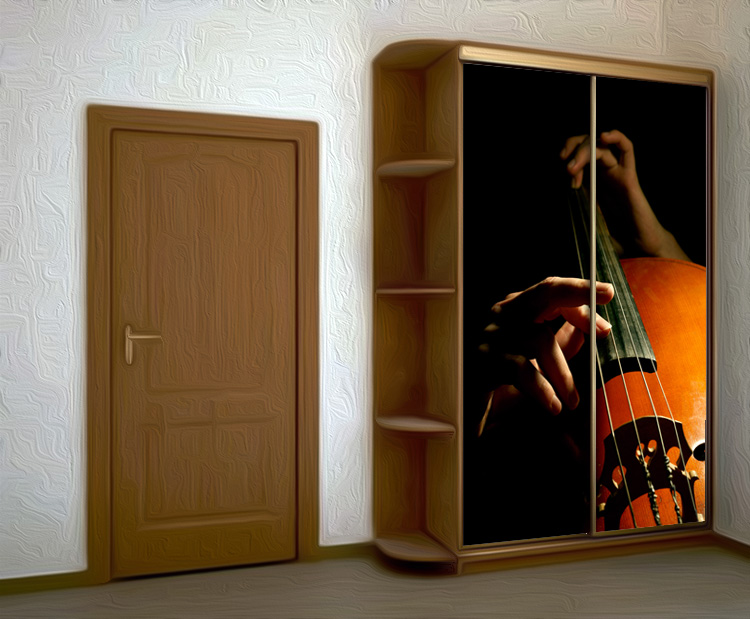 Wardrobe Stickers - Contrabass by X-Decor
