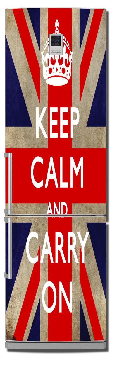 Виниловая наклейка на холодильник -  Keep calm 2