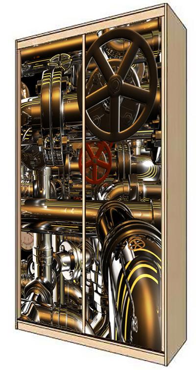 Наклейка на шкаф - Нефть