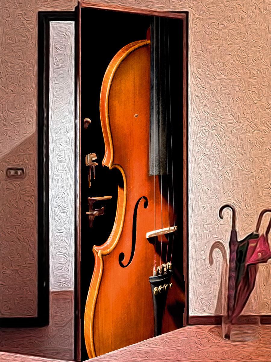 Наклейка на дверь - Инструмент