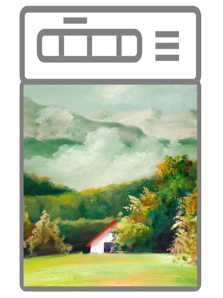 Наклейка на посудомоечную машину  - Пейзаж 1