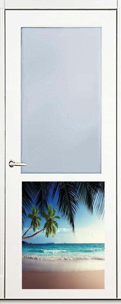 Наклейка на посудомоечную машину  -Пляж 1