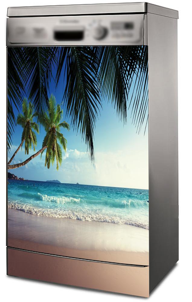 Наклейка на посудомоечную машину  --Пляж 1