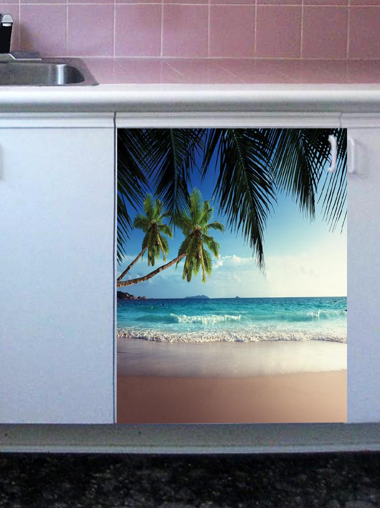 Наклейка на посудомоечную машину  - Пляж 1