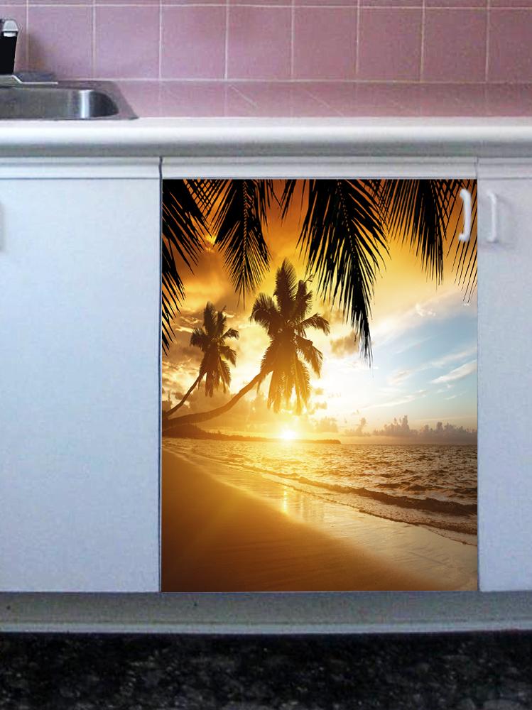 Наклейка на посудомоечную машину  - Пляж2