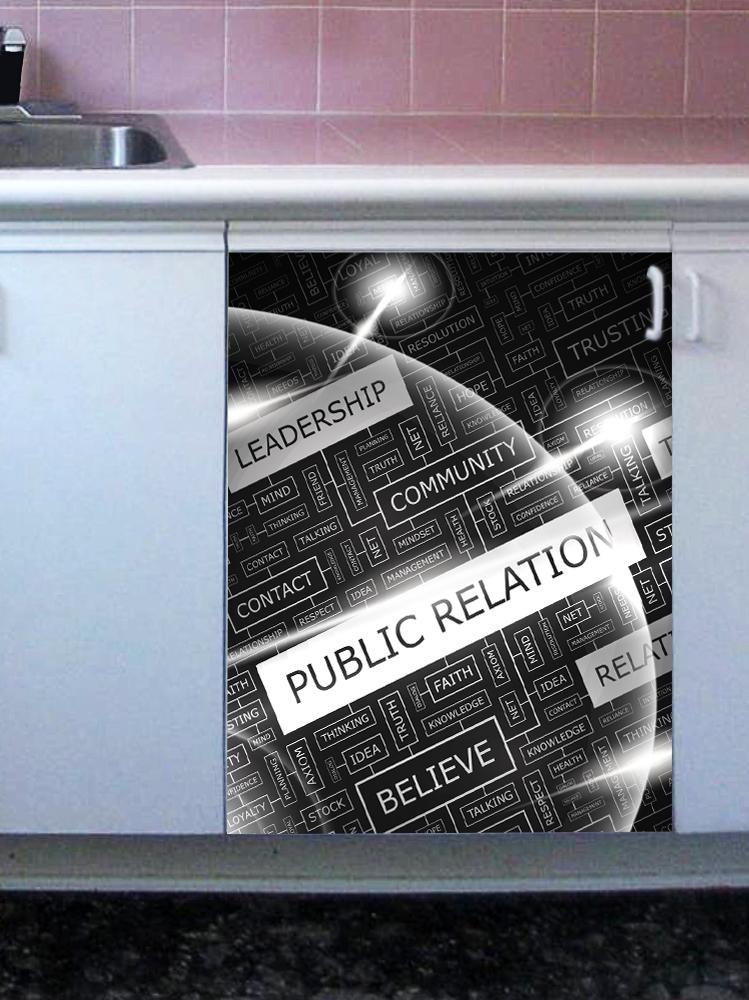 Наклейка на посудомоечную машину - public relation