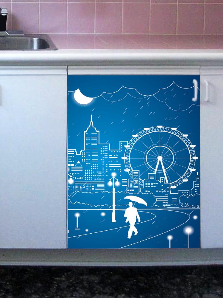 Наклейка на посудомоечную машину - Полнолуние 3