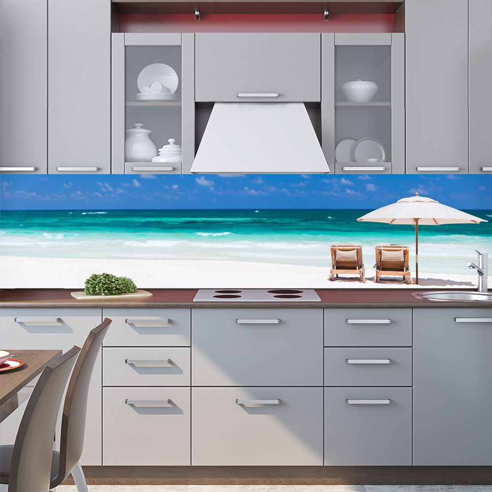 Фартук кухни с фотопечатью - Пляж 2