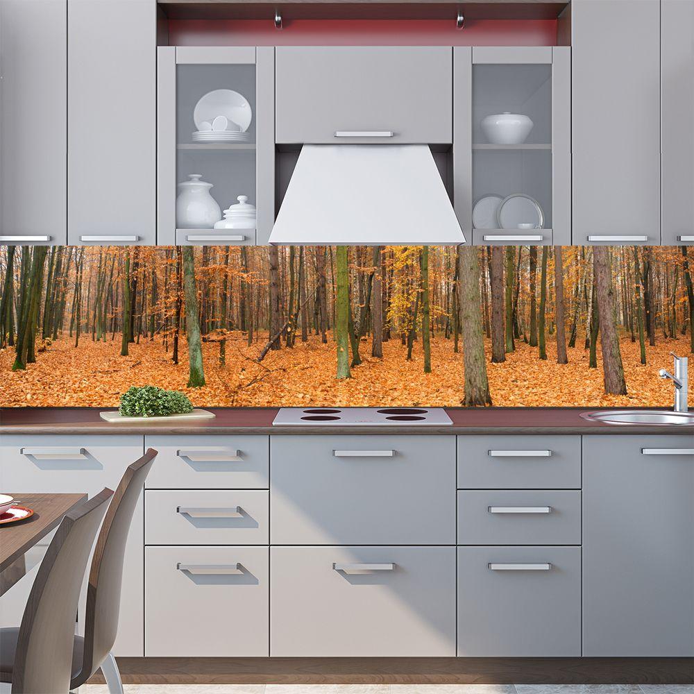 Фартук кухни с фотопечатью - Осенний лес