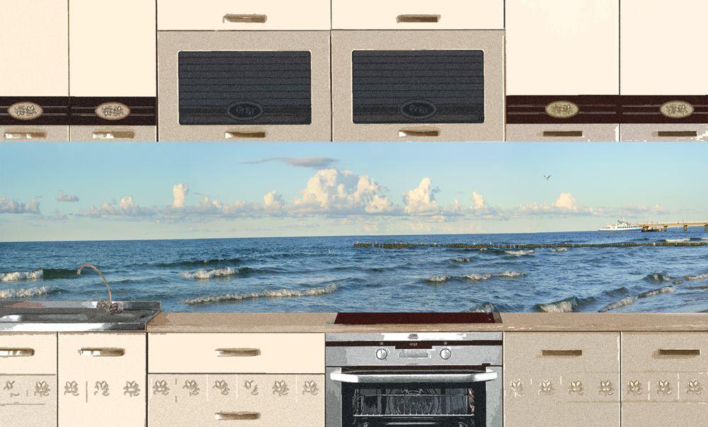 Виниловая наклейка для фартука на кухню -  Причал для яхты 2