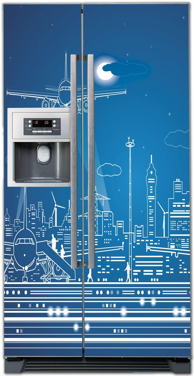 Виниловая наклейка на холодильник -  Полнолуние-2