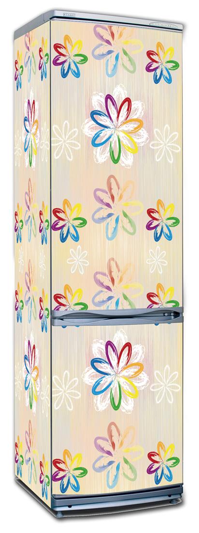 Виниловая наклейка на холодильник -  Детский луг