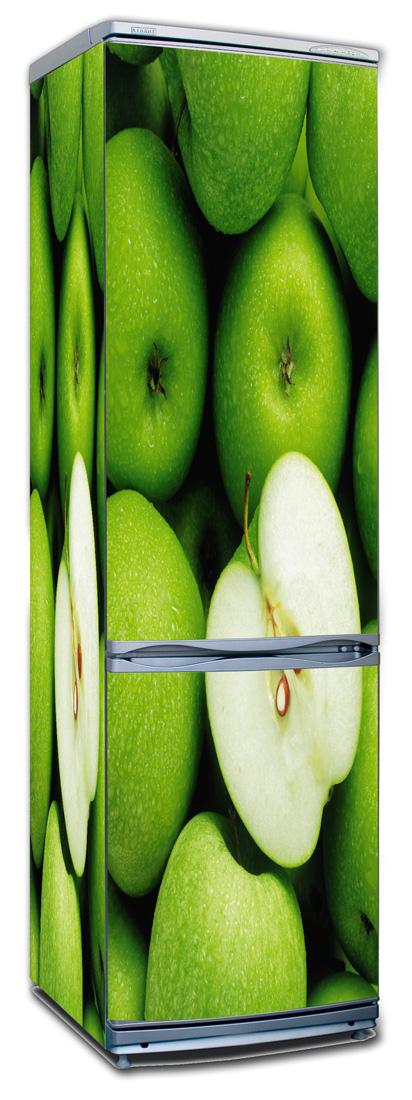 Виниловая наклейка на холодильник - Яблоки