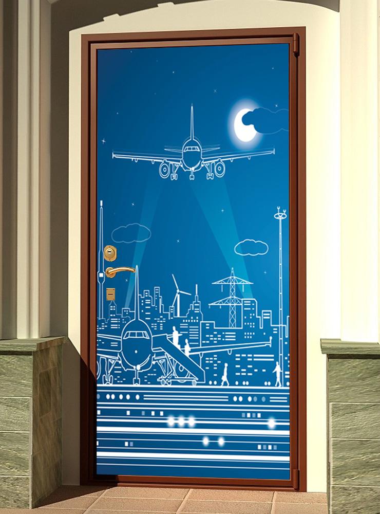 Виниловая наклейка на дверь - Полнолуние-2